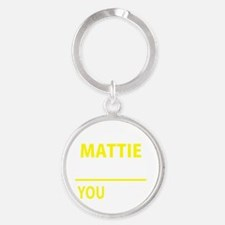 Cute Mattie Round Keychain