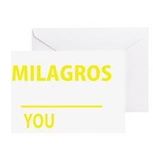 Unique Milagro Greeting Card