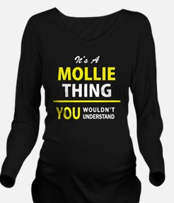 Cute Mollie Long Sleeve Maternity T-Shirt