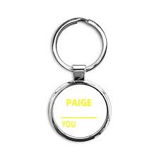 Cute Paige Round Keychain