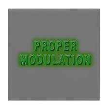 Proper Modulation Tile Coaster