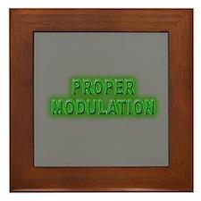 Proper Modulation Framed Tile