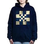 Cracked Tiles - Blue Women's Hooded Sweatshirt