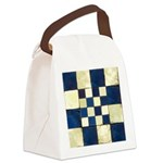 Cracked Tiles - Blue Canvas Lunch Bag