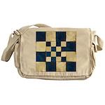 Cracked Tiles - Blue Messenger Bag