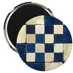 Cracked Tiles - Blue Magnet