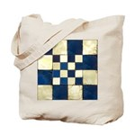 Cracked Tiles - Blue Tote Bag