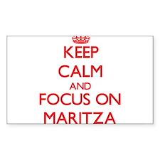 Keep Calm and focus on Maritza Decal