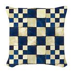 Cracked Tiles - Blue Woven Throw Pillow