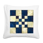 Cracked Tiles - Blue Square Canvas Pillow