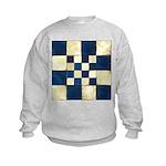 Cracked Tiles - Blue Kids Sweatshirt