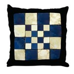 Cracked Tiles - Blue Throw Pillow