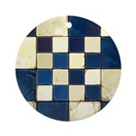 Cracked Tiles - Blue Ornament (Round)