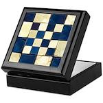 Cracked Tiles - Blue Keepsake Box