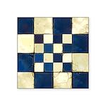 Cracked Tiles - Blue Square Sticker 3