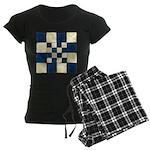 Cracked Tiles - Blue Women's Dark Pajamas