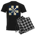 Cracked Tiles - Blue Men's Dark Pajamas