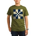 Cracked Tiles - Blue Organic Men's T-Shirt (dark)