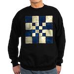 Cracked Tiles - Blue Sweatshirt (dark)