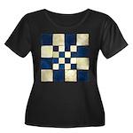 Cracked Women's Plus Size Scoop Neck Dark T-Shirt