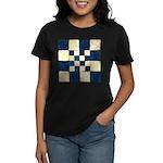 Cracked Tiles - Blue Women's Dark T-Shirt