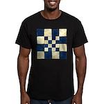 Cracked Tiles - Blue Men's Fitted T-Shirt (dark)