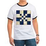 Cracked Tiles - Blue Ringer T
