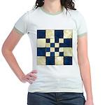 Cracked Tiles - Blue Jr. Ringer T-Shirt