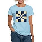 Cracked Tiles - Blue Women's Light T-Shirt