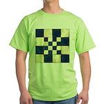 Cracked Tiles - Blue Green T-Shirt