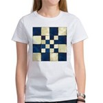 Cracked Tiles - Blue Women's T-Shirt