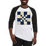 Cracked Tiles - Blue Baseball Jersey
