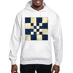 Cracked Tiles - Blue Hooded Sweatshirt