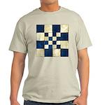 Cracked Tiles - Blue Light T-Shirt