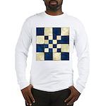 Cracked Tiles - Blue Long Sleeve T-Shirt
