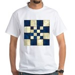 Cracked Tiles - Blue White T-Shirt