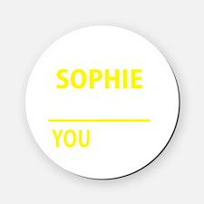 Cute Sophie Cork Coaster