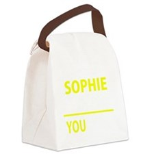 Funny Sophie Canvas Lunch Bag