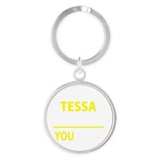 Cute Tessa Round Keychain