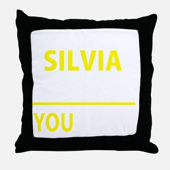 Funny Silvia Throw Pillow