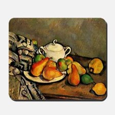 Cezanne - Sugarbowl, Pears and Tableclot Mousepad