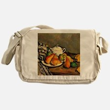 Cezanne - Sugarbowl, Pears and Table Messenger Bag