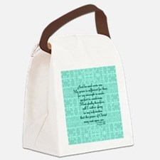 2 Corinthians 12:9 green Canvas Lunch Bag