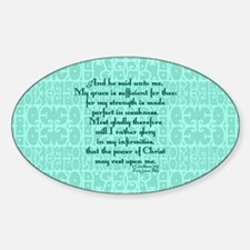 2 Corinthians 12:9 green Decal