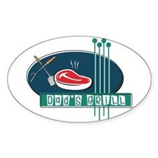Dad's Grill T-shirt & gifts Oval Decal