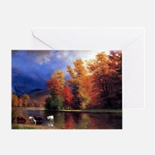 On the Saco, landscape painting Greeting Card