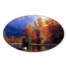 On the Saco, landscape painting Decal