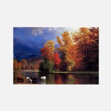 On the Saco, landscape painting Rectangle Magnet