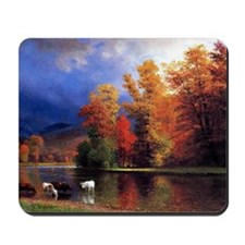 On the Saco, landscape painting Mousepad