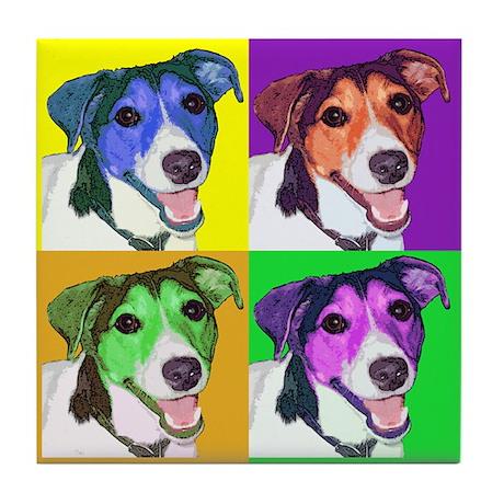 Tucker the Jack Russell Tile Coaster